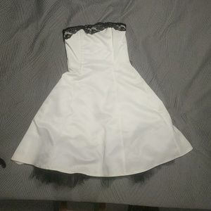 White swing wedding or reception dress